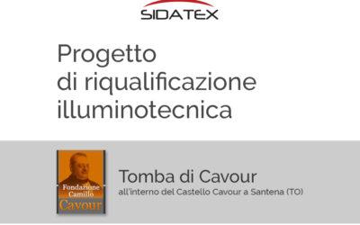 Progetto di riqualificazione illuminotecnica, tomba Cavour, Santena