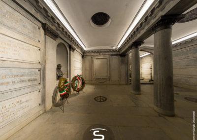 Tomba di Cavour Santena - illuminazione a LED