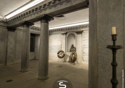 Tomba Cavour Santena - illuminazione a LED