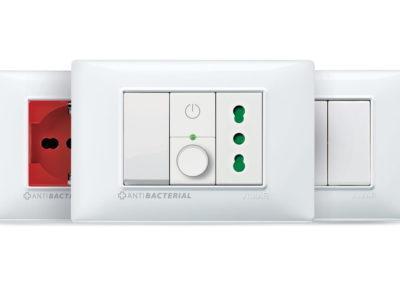 presa di corrente punto luce antibatterico