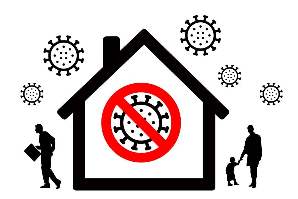 divieto accesso a virus in casa